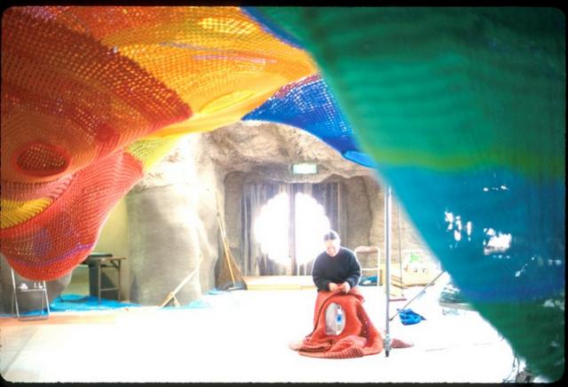 Toshiko horiuchi macadam crochet knit net playground playscape6
