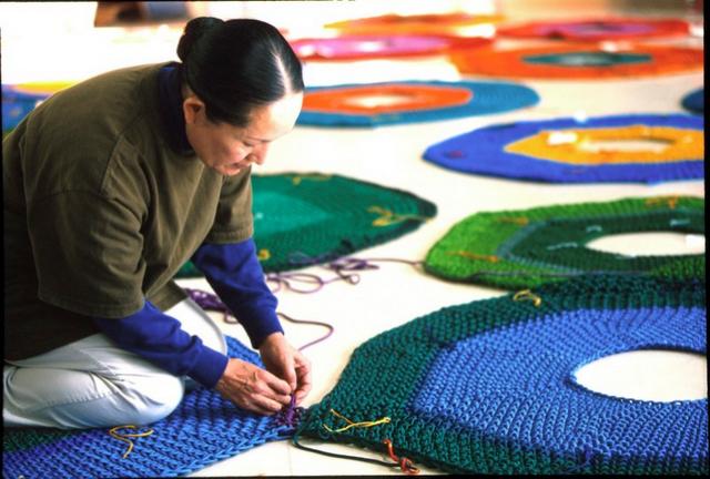 Toshiko horiuchi macadam crochet knit net playground playscape5