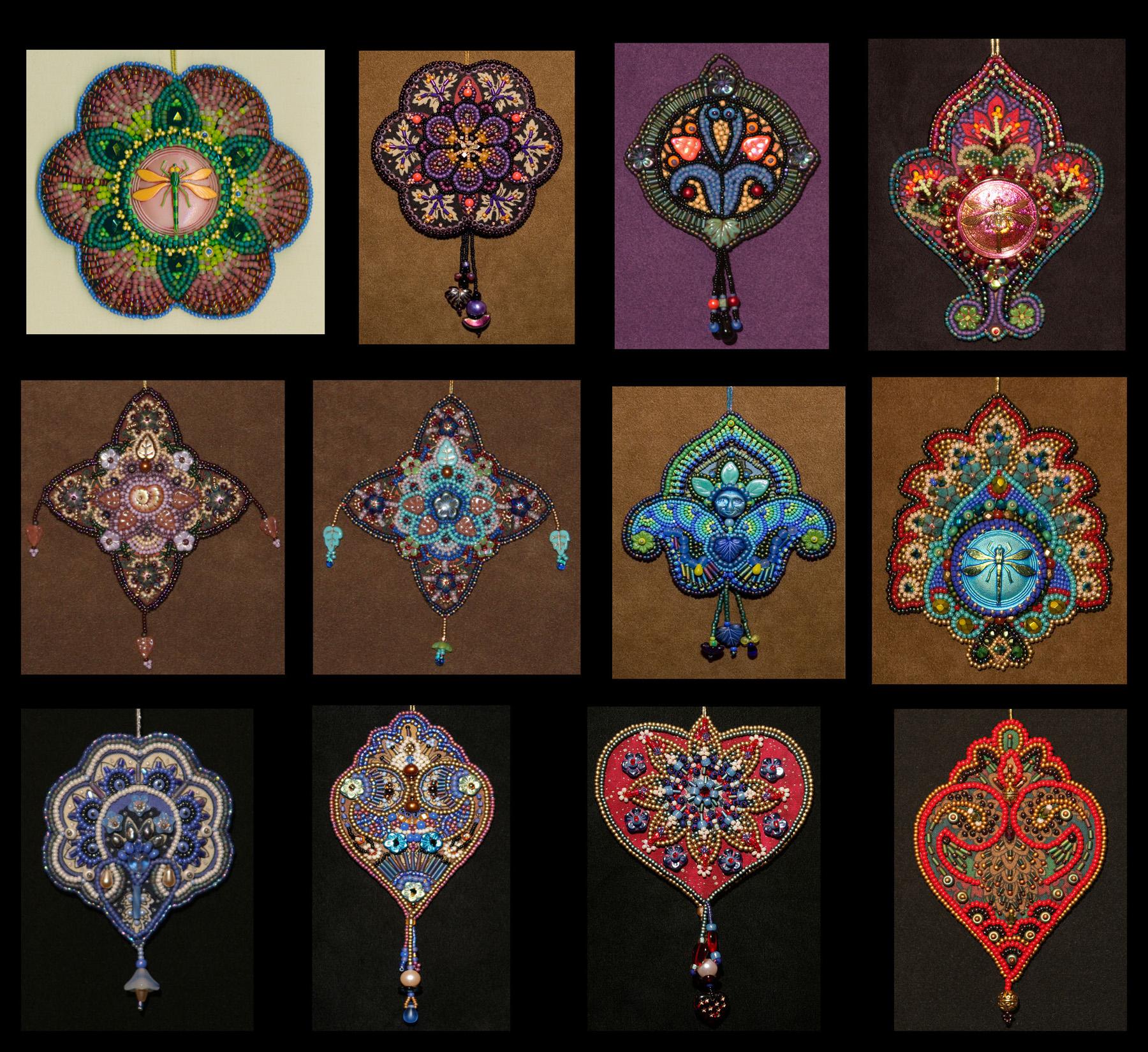 Little Bead Embroidery Projects Five Years Of Designs Lisa Binkley S Fiber Art Blog
