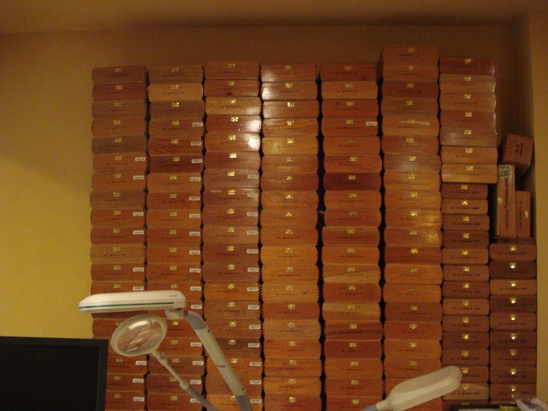 Cigar box stacks