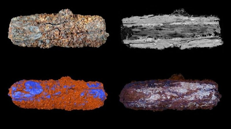 Egyptian meteorite beads