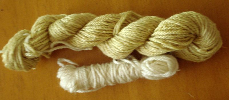 Wool yarn before and after