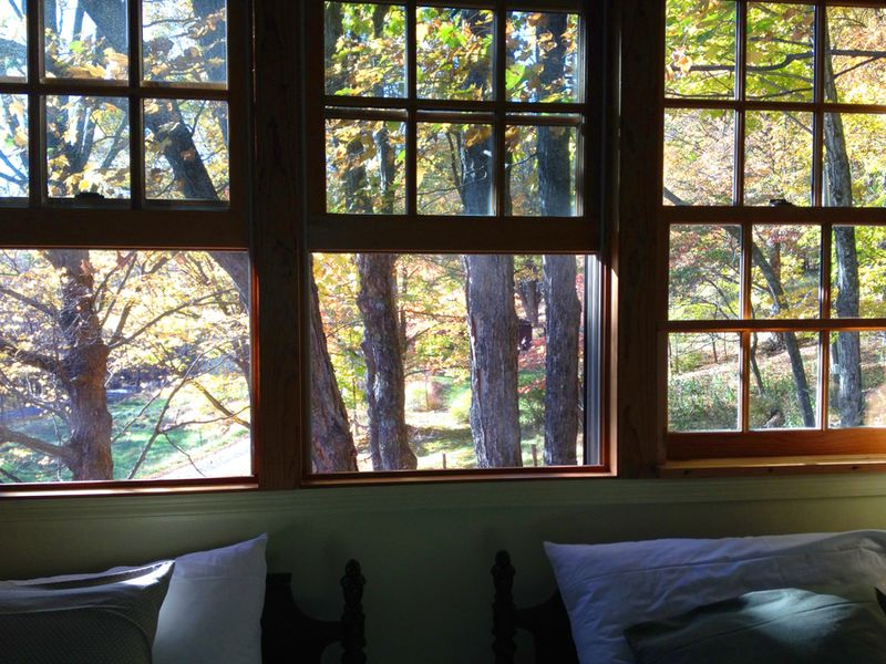 Rhinebeck--view from loft windows