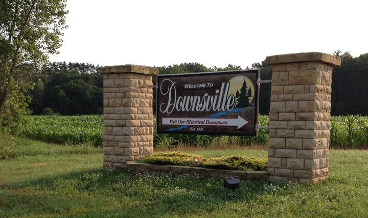 0714 Downsville, WI sign