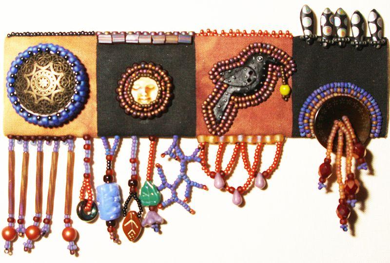 Beads on Cloth day 2 sampler