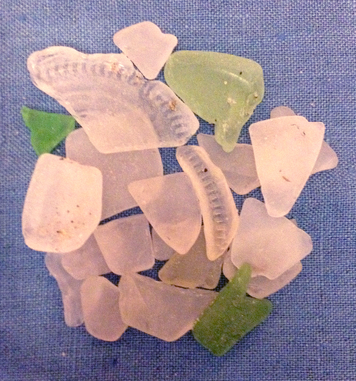 061115 Lake Mendota Beach Glass collected