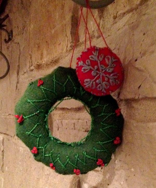 Childhood felt ornaments