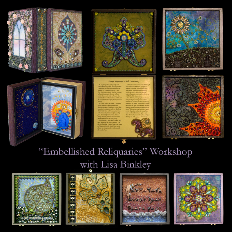 Embellished Reliquaries--promo poster