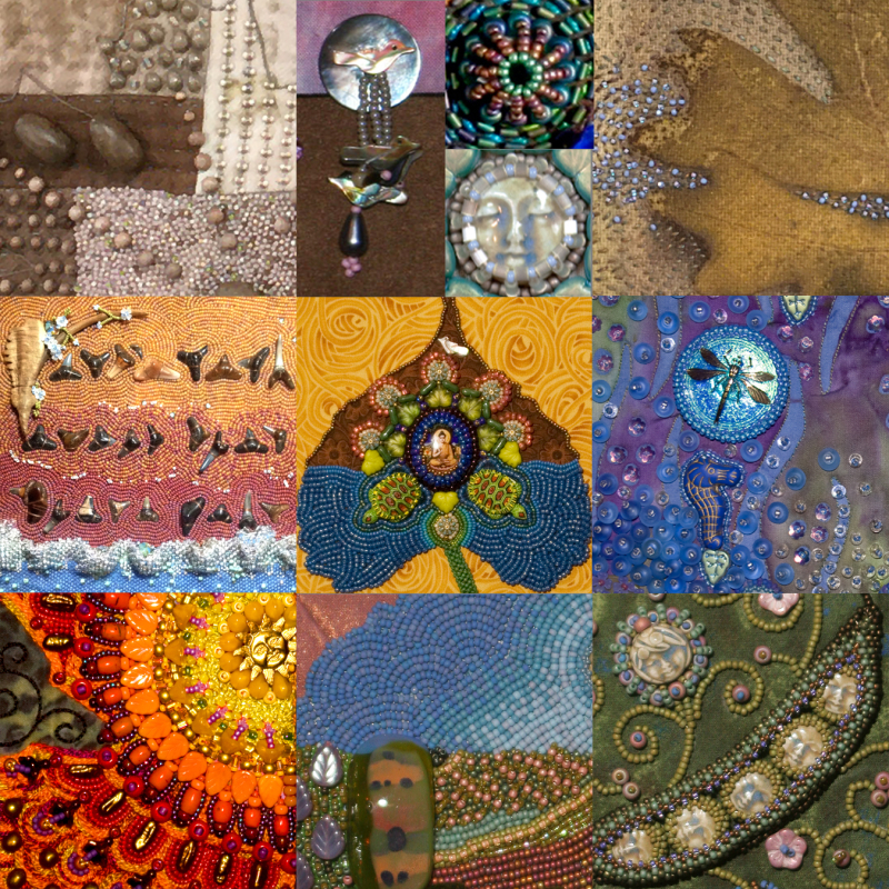 The Art of Hand Stitching Beads on Cloth promo image